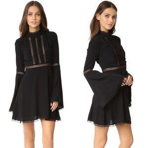 For Love & Lemons Willow Bell Sleeve Dress M NWT